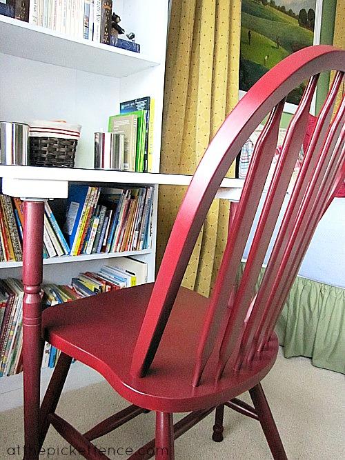 bookcase turned desk
