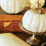 How to make a book page pumpkin