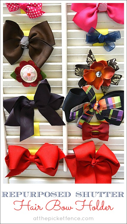 repurposed hair bow shutter from at the picket fence