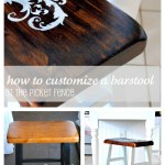 How To Customize a Bar Stool from www.atthepicketfence.com