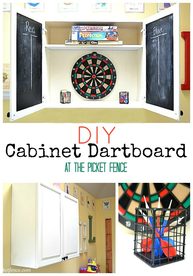 Incroyable DIY Dartboard From Kitchen Cabinet Www.atthepicketfence.com