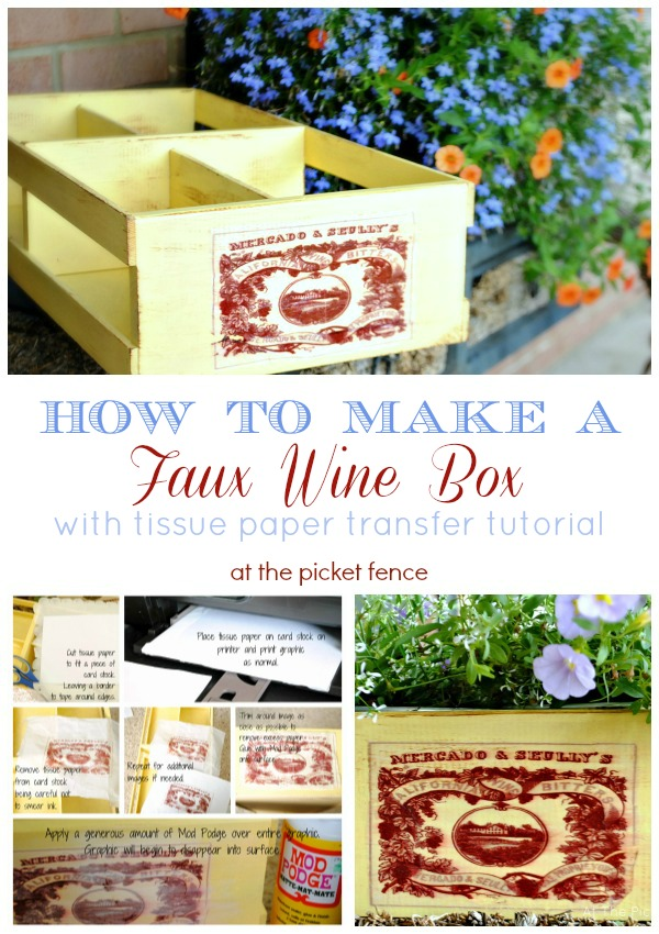 How to make a Faux Wine Box Planter