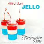 Fourth of July Fire Cracker Jello Shots (kid and adult version) from www.atthepicketfence.com
