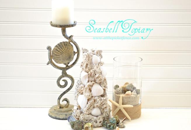 ballard design inspired sea shell topiary