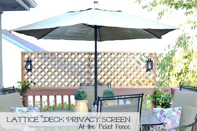 Lattice Privacy Screen Diy
