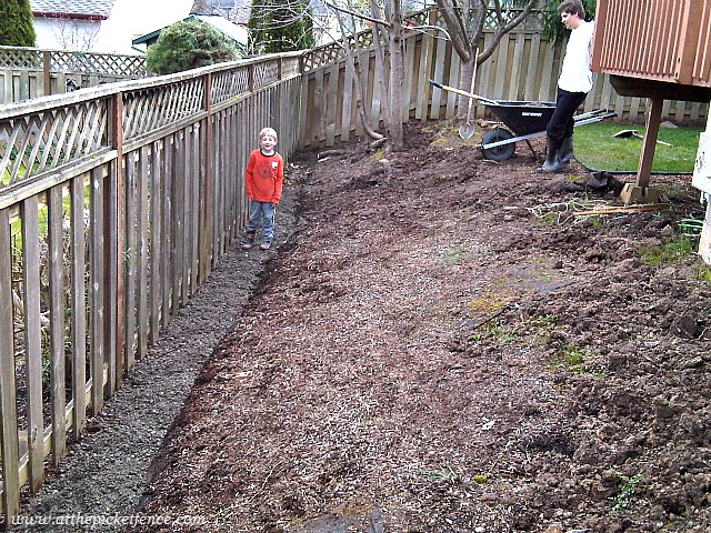 Along This Side Of The Yard We Decided To Put In A Retaining Wall And Backfill Area Photo Was Taken 2010 When My Little Guy R