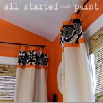 Teen Room orange black white drop cloth drapes_thumb[1]