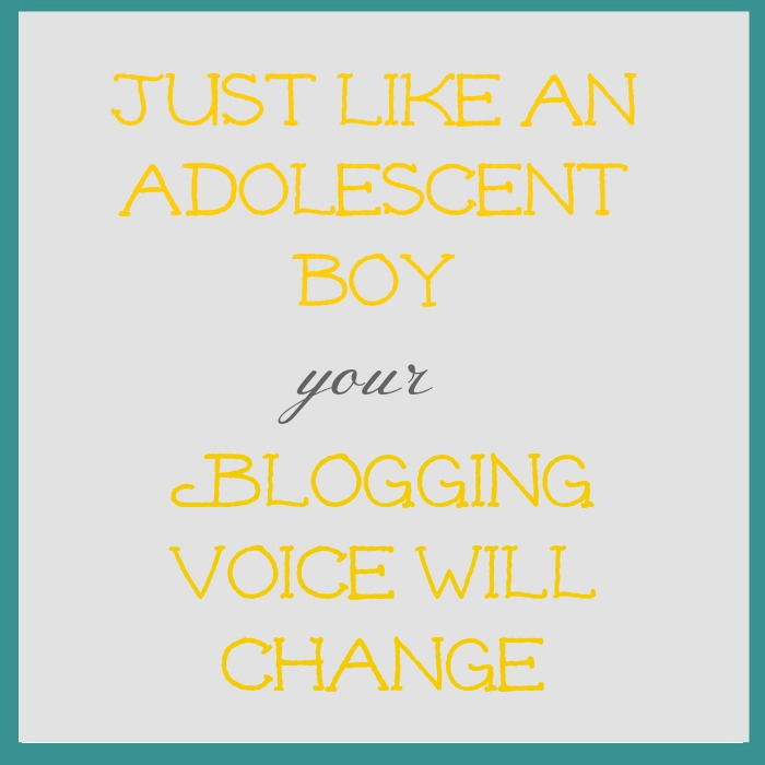 blog voice will change