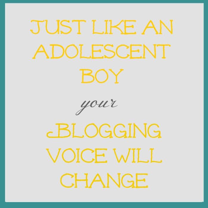 blog voice will change