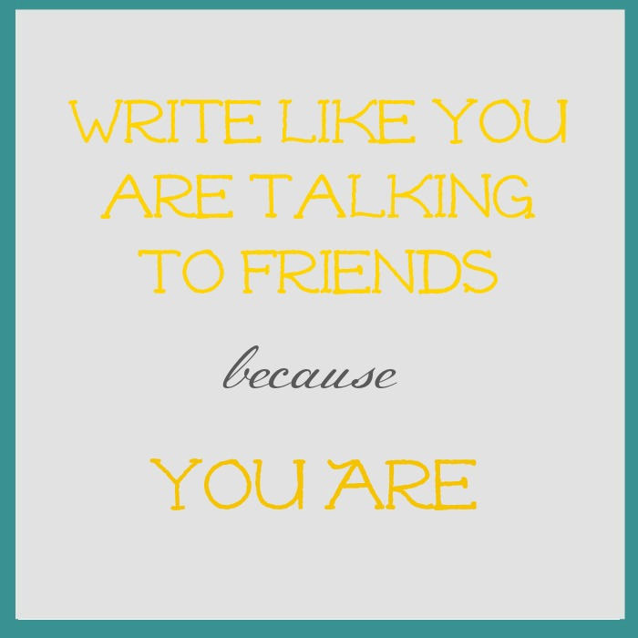 talking to friends