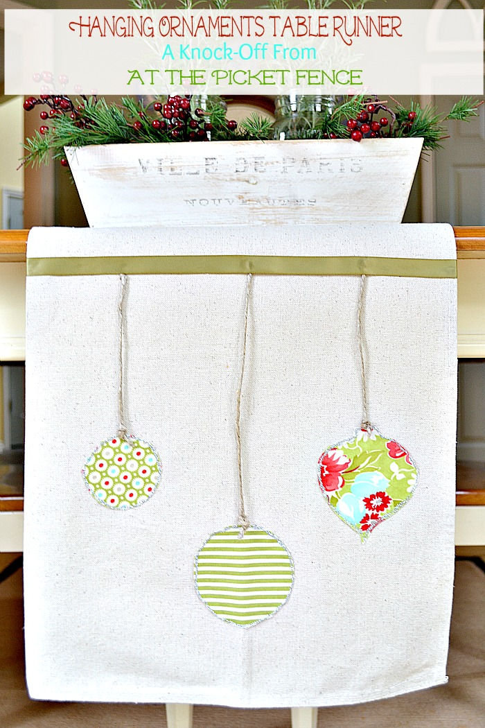 ballard holiday table runner knock off at the picket fence. Black Bedroom Furniture Sets. Home Design Ideas
