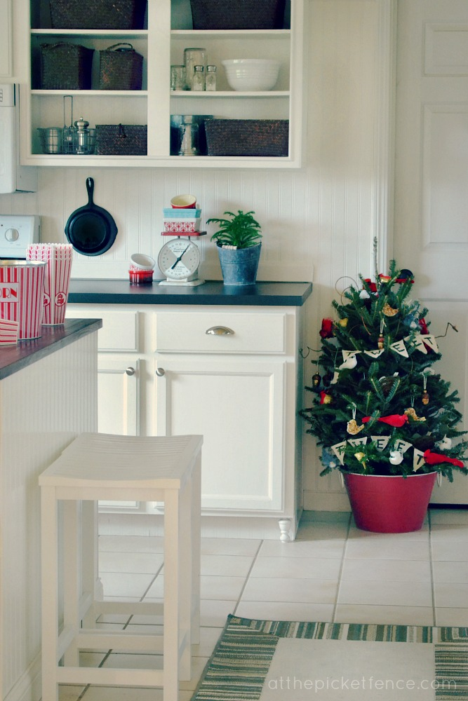 Birds of a Feather Kitchen Christmas Tree from At The Picket Fence