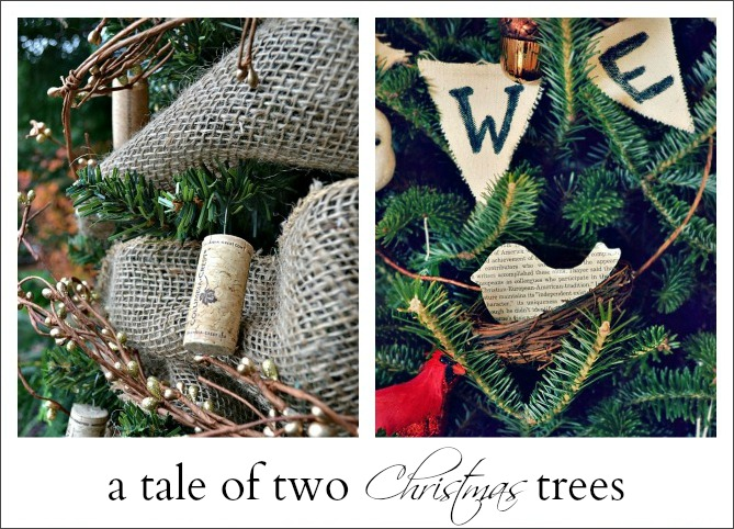 a tale of two Christmas trees