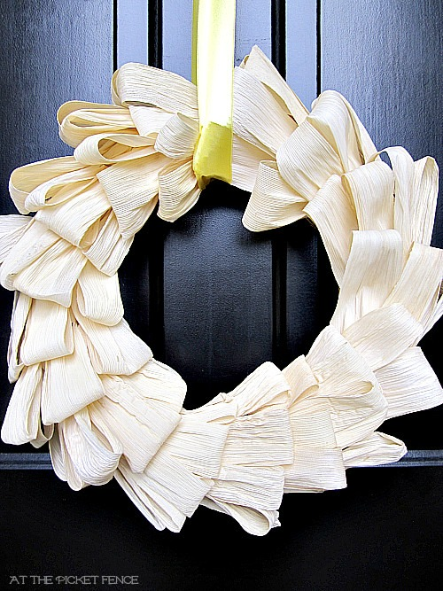 Corn Husk Wreath and Flower Napkin Ring