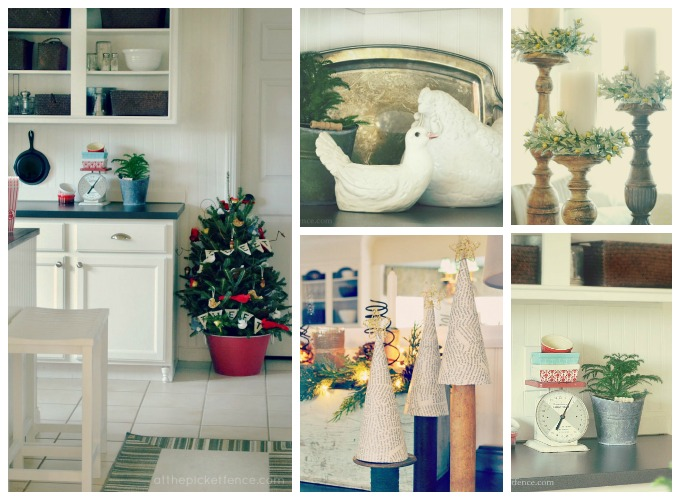 Christmas 2012 Kitchen Collage At The Picket Fence