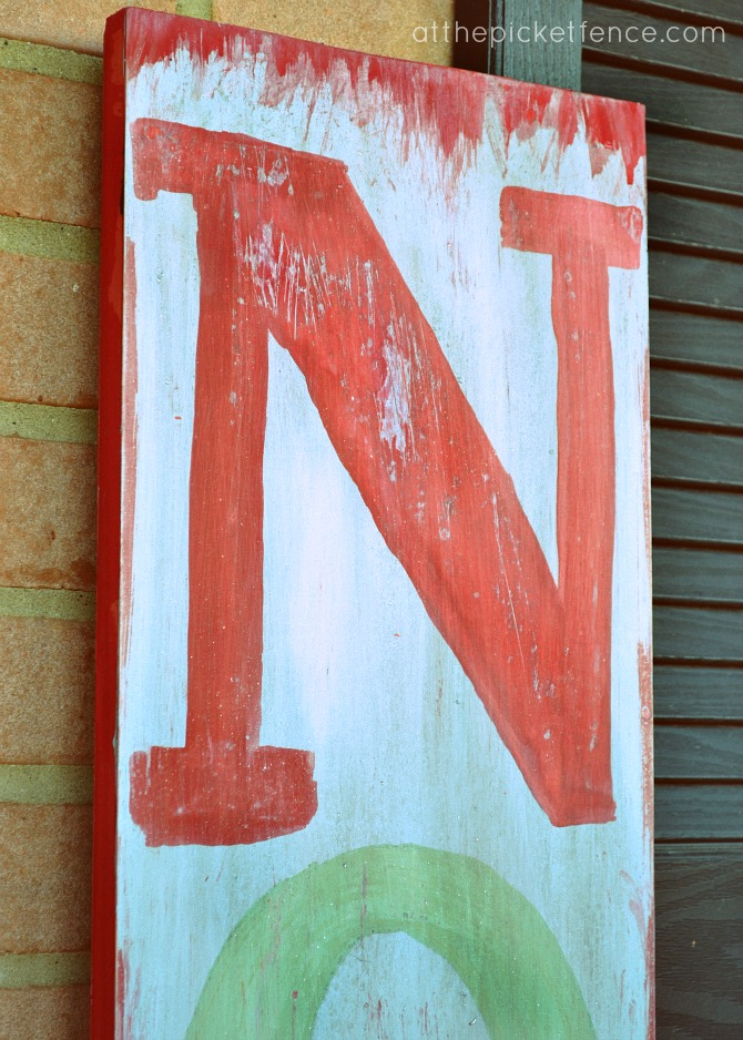Miss Mustard Seed Milk Paint NOEL Sign from At The Picket Fence