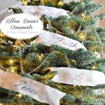 ribbon banner ornaments at the picket fence