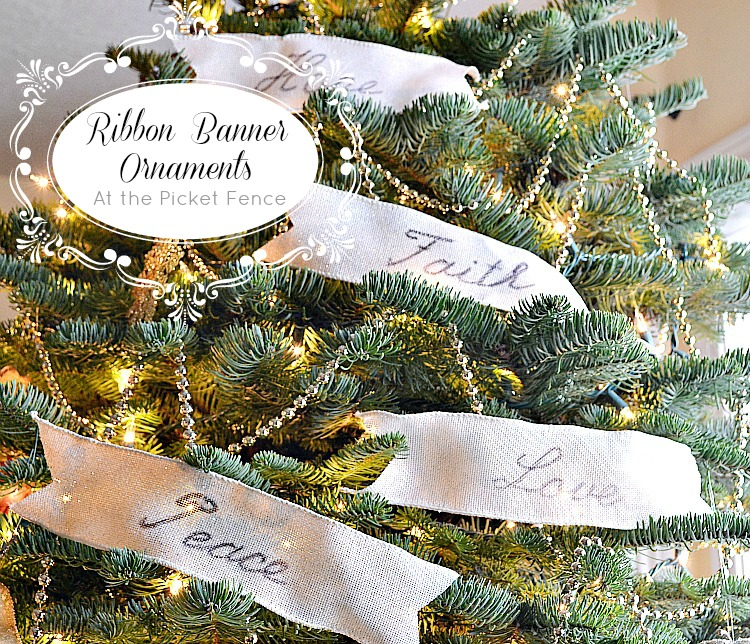 Ribbon Banner Ornaments and Being Blog Worthy