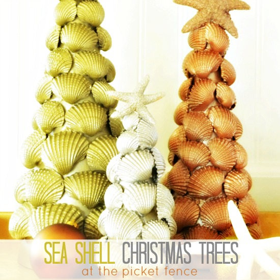 Metallic Sea Shell Christmas Trees