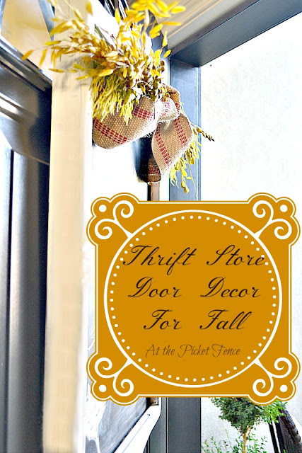Thrift Store Door Decor For Fall