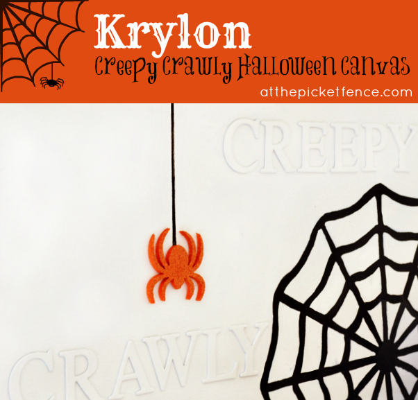 How To Make a Creepy Crawly Halloween Canvas