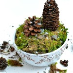 Pine Cone Terrarium craft2 folk at the picket fence