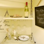 hanging wine rack label At the Picket Fence