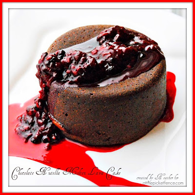 A perfect Valentine's Day Dessert…Chocolate Nutella Lava Cakes!