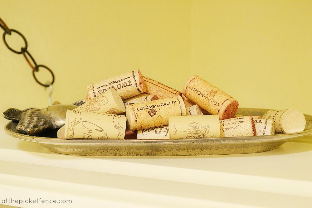 wine corks on tray