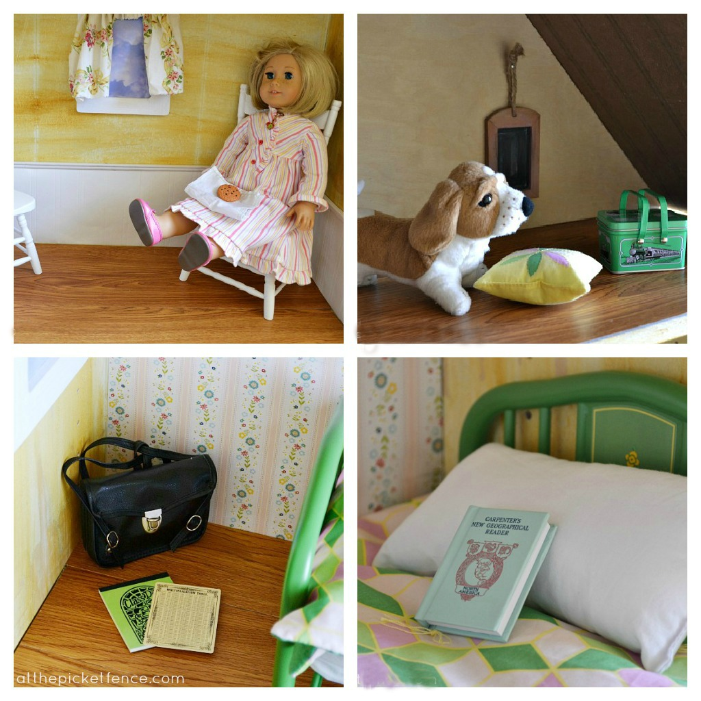 American Girl dollhouse collage