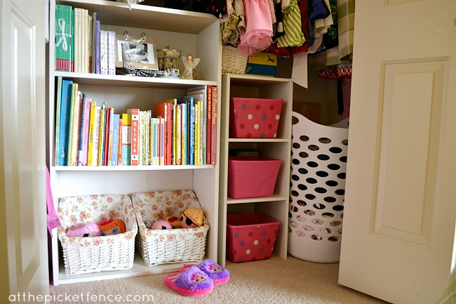 Closet Organization At the Picket Fence