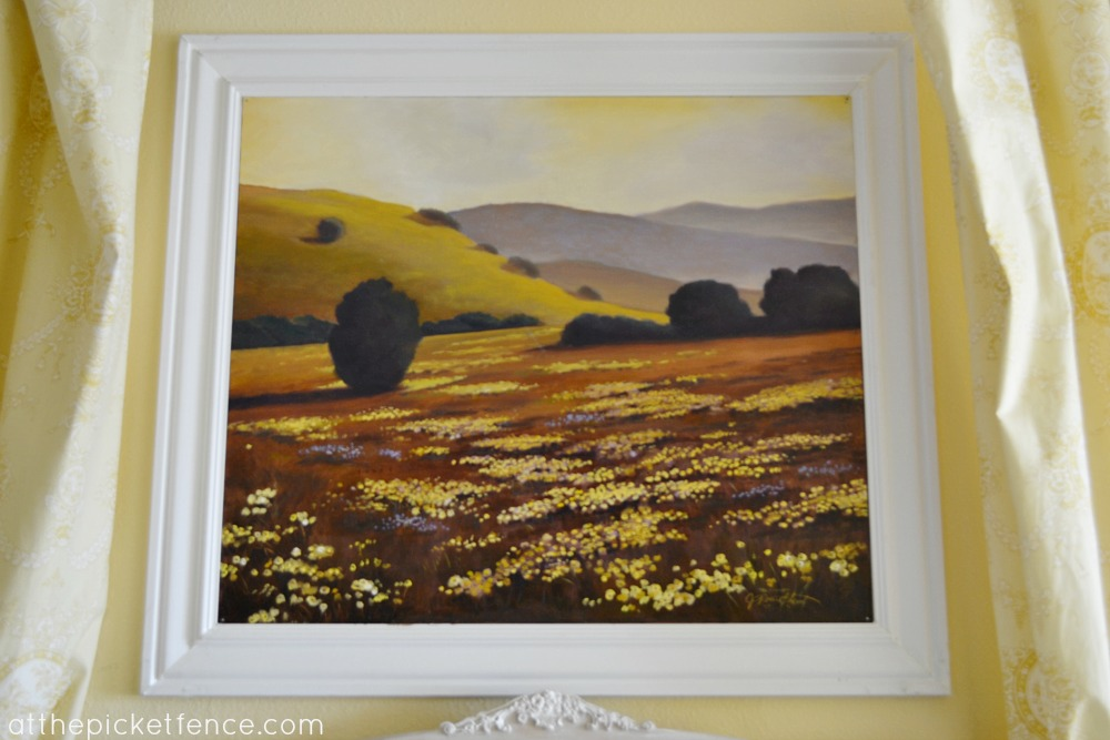 Field of wildflowers painting At the Picket Fence