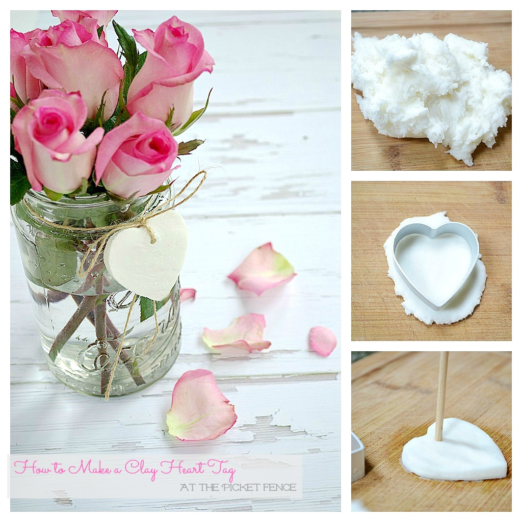 How to Make a Clay Heart Tag At the Picket Fence