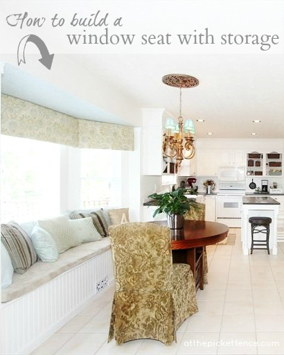 How to build a window seat with storage atthepicketfence.com
