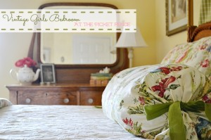 Vintage Girls Bedroom At the Picket Fence