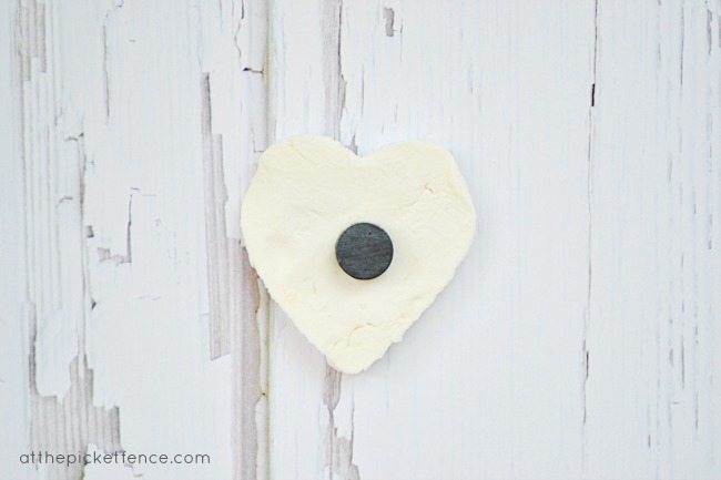 clay heart magnet