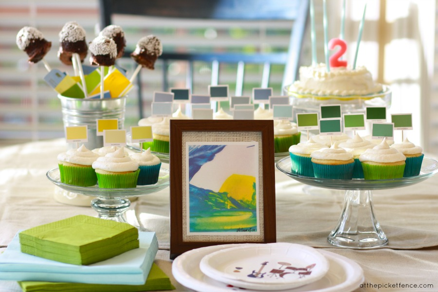 Painting Themed Birthday Party Ideas from At The Picket Fence