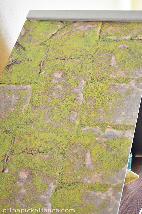 mossy roof scrapbook paper at the picket fence