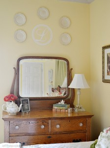 vintage dresser at the picket fence