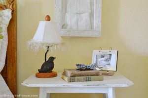 vintage nightstand At the Picket Fence