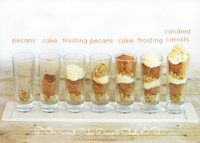 Carrot Cake Dessert Shots from www.atthepicketfence.com