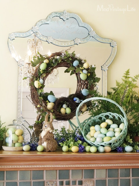 Easter Mantel from Mod Vintage Life