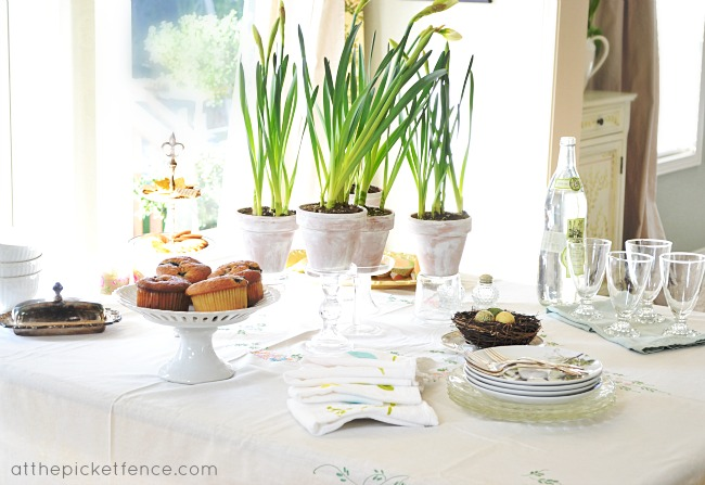 Spring tablescape At the Picket Fence