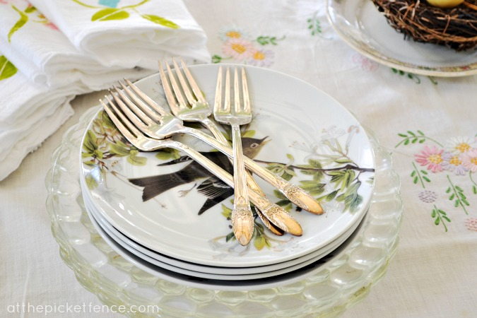 Vintage silverware At the Picket Fence