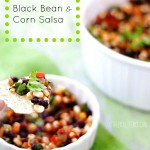 The world's best and easiest black bean and corn salsa from At The Picket Fence