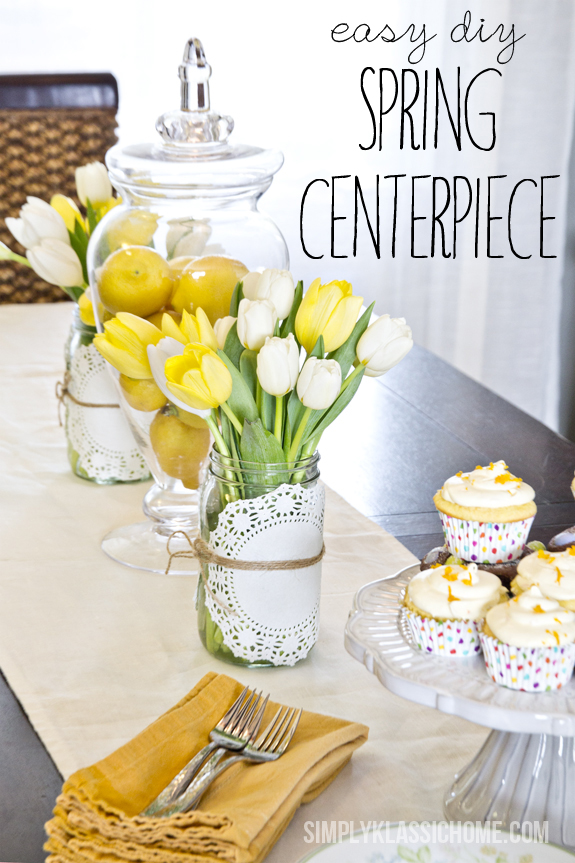 Easy DIY Spring Centerpiece from Simply Klassic Home