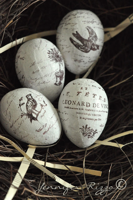 hand stamped eggs from Jennifer Rizzo