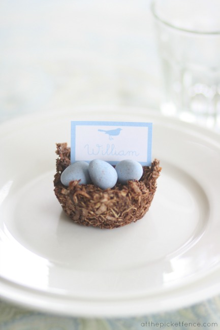 edible easter egg nest place cards www.atthepicketfence.com