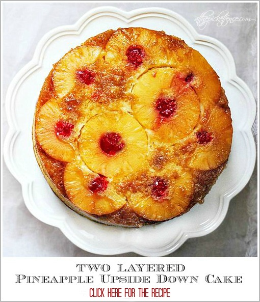 Two Layered Pineapple Upside Down Cake from At The Picket Fence