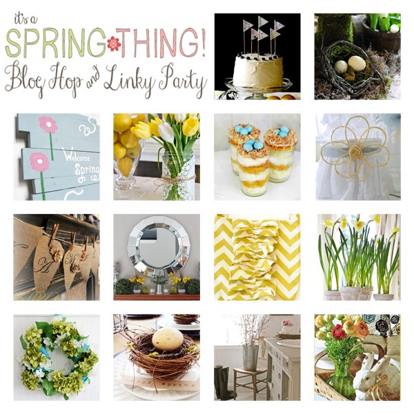 its a spring thing round up from At The Picket Fence